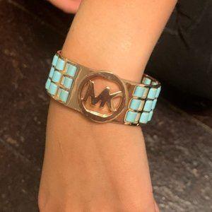 Michael Kors bracelet gold turquoise teal